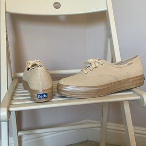 Keds golden sparkle tennis shoes